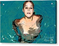 Acrylic Print featuring the painting Waterbabies by Tbone Oliver