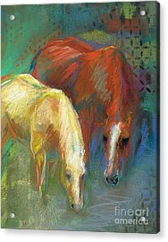 Acrylic Print featuring the painting Waterbreak by Frances Marino