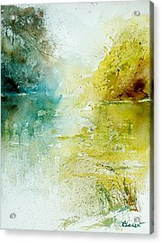 Watercolor 24465 Acrylic Print by Pol Ledent