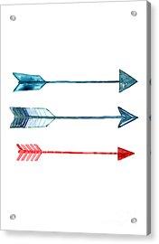 Watercolor Arrow Minimalist Painting Acrylic Print
