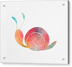 Watercolor Baby Snail Acrylic Print