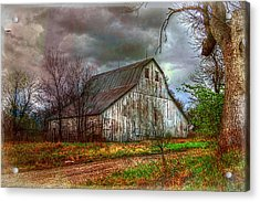 Watercolor Barn 2 Acrylic Print
