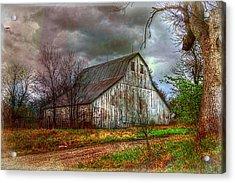 Watercolor Barn 2 Acrylic Print by Karen McKenzie McAdoo