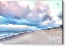 Watercolor Beach Acrylic Print