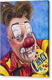 Watercolor Clown #21 Eugenio Adorno Espinell Acrylic Print