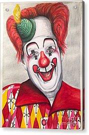 Watercolor Clown #25 Chuck Burnes Acrylic Print