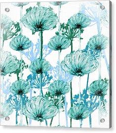 Watercolor Dandelions Acrylic Print by Bonnie Bruno