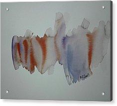 Watercolor Design 2 Acrylic Print by B L Qualls