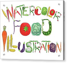 Watercolor Food Illustration  Acrylic Print