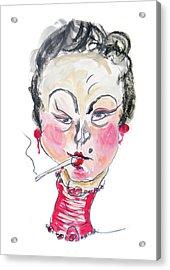 The Smoker Acrylic Print