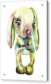 Watercolor Illustration Of Rabbit Acrylic Print