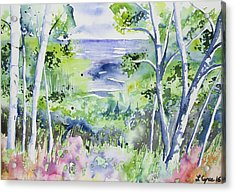 Acrylic Print featuring the painting Watercolor - Lake Superior Impression by Cascade Colors