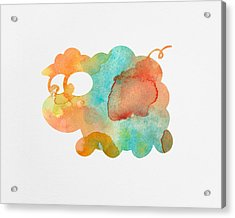 Watercolor Lamb For Nurseries Acrylic Print