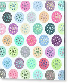 Watercolor Lovely Pattern Acrylic Print by Amir Faysal