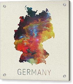 Watercolor Map Of Germany Acrylic Print