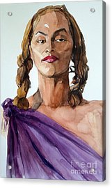 Portrait In Watercolor Of A Brooklyn Queen Acrylic Print