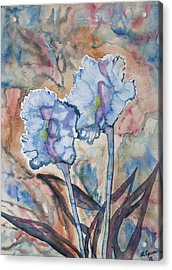 Acrylic Print featuring the painting Watercolor - Orchid Impression by Cascade Colors