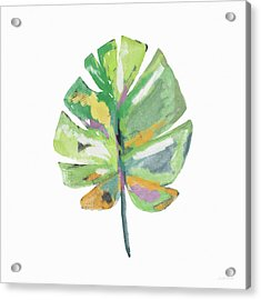 Acrylic Print featuring the mixed media Watercolor Palm Leaf- Art By Linda Woods by Linda Woods