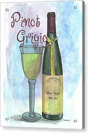 Watercolor Pinot Grigio Acrylic Print by Debbie DeWitt