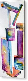 Watercolor Sculpture Acrylic Print by Mindy Newman