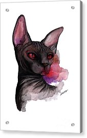 Watercolor Sphinx Acrylic Print by Akiko Okabe