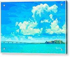 Watercolor Spring On Sarasota Bay Acrylic Print