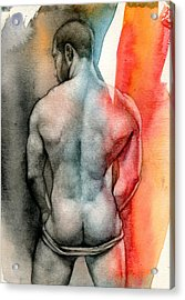 Watercolor Study 6 Acrylic Print by Chris Lopez
