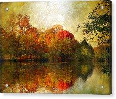 Watercolor Sunset Acrylic Print by Jessica Jenney