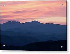 Watercolor Sunset Acrylic Print