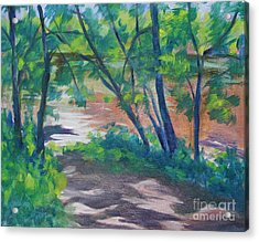 Watercress Beach On The Current River   Acrylic Print