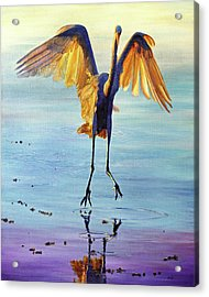 Acrylic Print featuring the painting Waterdance by AnnaJo Vahle