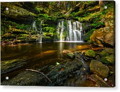 Waterfall At Day Pond State Park Acrylic Print
