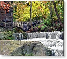 Waterfall At Olmsted Falls - 1 Acrylic Print