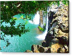 Waterfall At Peter Pan's Treehouse Acrylic Print