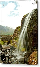 Waterfall At The Conor Pass Acrylic Print