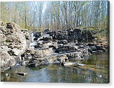 Acrylic Print featuring the photograph Waterfall At Wickecheoke Creek by Bill Cannon