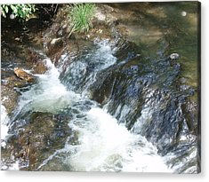Acrylic Print featuring the photograph Waterfall Cresendo by Kicking Bear  Productions