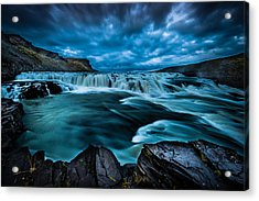 Waterfall Drama Acrylic Print by Chris McKenna