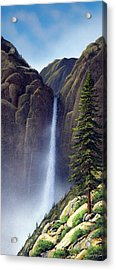 Waterfall Acrylic Print by Frank Wilson