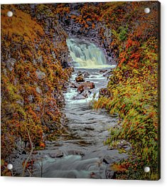 Acrylic Print featuring the photograph Waterfall #g8 by Leif Sohlman