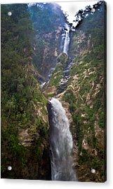 Waterfall Highlands Of Guatemala 1 Acrylic Print