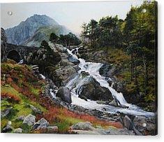 Waterfall In February. Acrylic Print