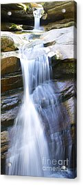 Waterfall In Nh Acrylic Print by Michael Mooney