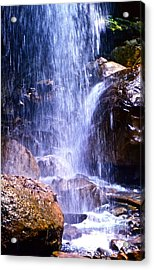 Waterfall In Tennessee Acrylic Print by Lori Miller