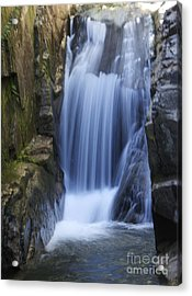 Waterfall In The Woods Acrylic Print by Michael Mooney