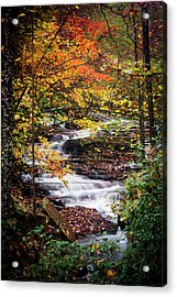 Acrylic Print featuring the photograph Waterfall Kaleidoscope  by Parker Cunningham