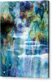 Waterfall Acrylic Print by Kathie Miller