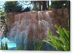 Waterfall Las Vegas Nevada Acrylic Print by Alan Espasandin