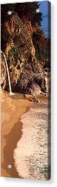 Waterfall, Mcway Cove, Big Sur, Ca Acrylic Print