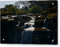 Waterfall Acrylic Print by Miranda  Miranda